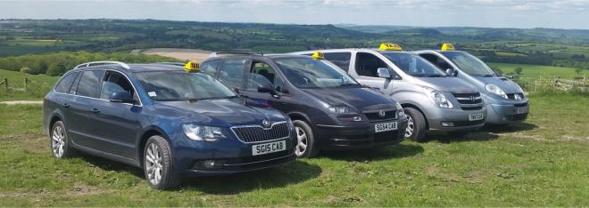 Shaftesbury and Gillingham Taxi vehicles